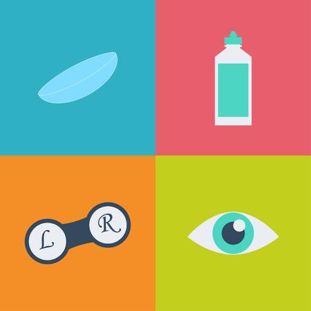 Vector nero optometria 16 set di icone. Ottico, oftalmologia, la correzione della vista, esame della vista, la cura degli occhi, degli occhi diagnostica. set Optical Archivio Fotografico - 61928774