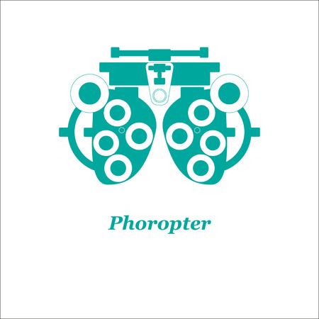 Illustrazione di phoropter. Vettore. Ottico, oftalmologia, la correzione della vista, esame della vista, la cura degli occhi, degli occhi diagnostica Archivio Fotografico - 65143910