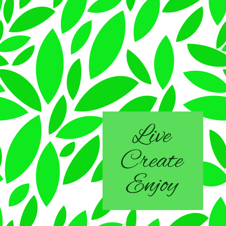 Seamless green leaves pattern.