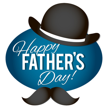 model motive: Happy Fathers Day.Happy fathers day card retro type font. Illustration