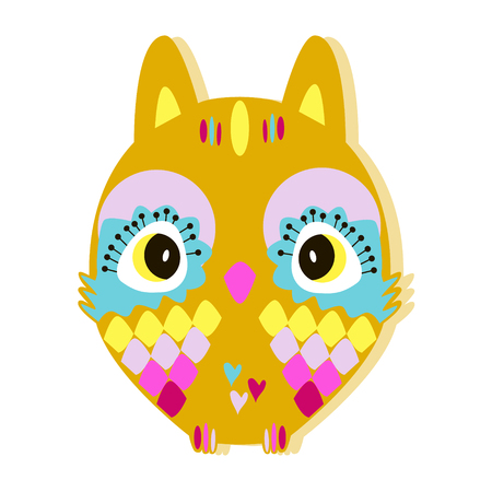 owlet: the color owlet in fun in the style of children.