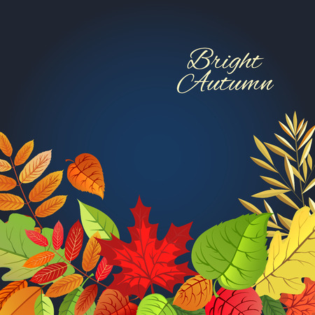 pocahontas: Happy Thanksgiving Day . Autumn leaves background, can be use as banner or poster.