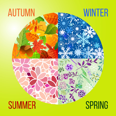 season: Season icons. Four Seasons of the year . Vector illustration. Illustration