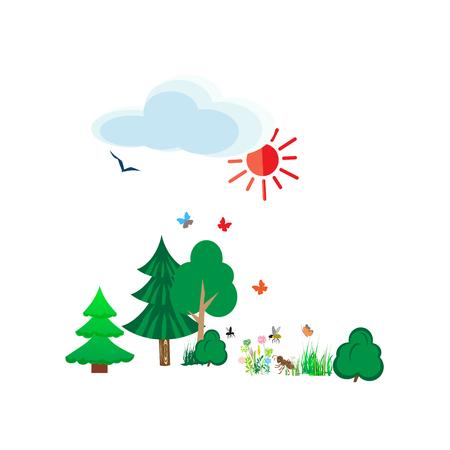 Gardening icon set, isolated on white background. Vector illustration