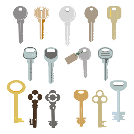 tore: house key vector icon Illustration