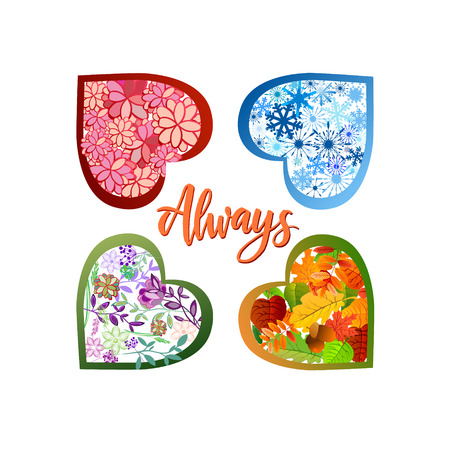 Season icons of four seasons of the year vector illustration