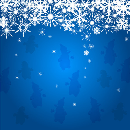 Winter background with figure snowflakes. Can be use as banner or poster.Vector illustration Illustration