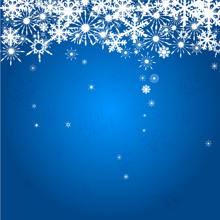Winter background with figure and snowflakes. Can be use as banner or poster.Vector illustration.