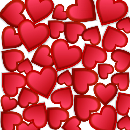 Seamless background with hearts. Illustration