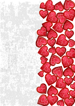 Happy valentines day card.vector.flyer background with hearts.