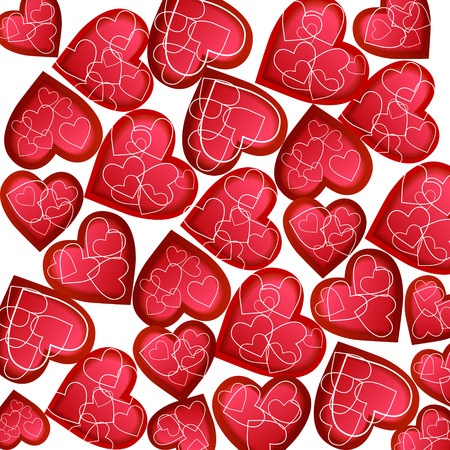 Happy valentines day card vector flyer background with hearts.