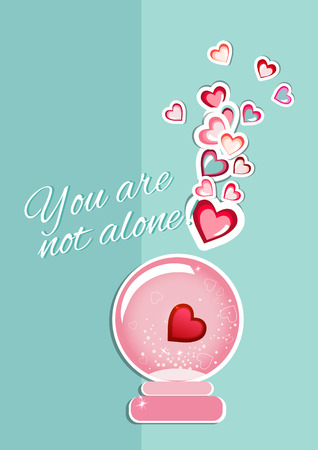 Happy Valentines day card. Vector background with hearts illustration. Illustration