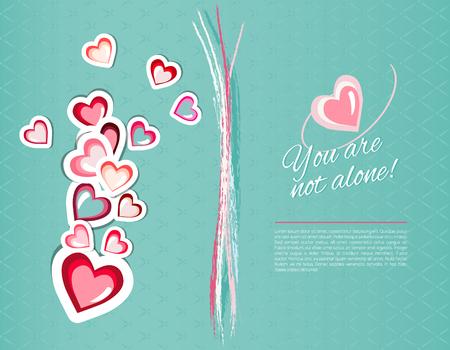 Happy valentines day card. Illustration