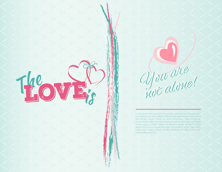 Happy valentines day card.Vector.