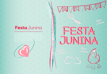 Festa Junina Brazil Topic Festival. Folklore holiday. It is a vector illustration. Illustration