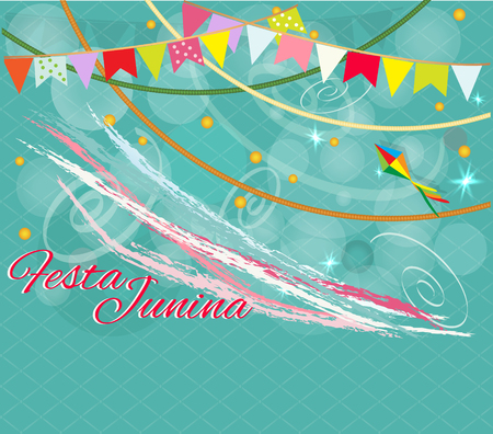 Festa Junina Brazil Topic Festival. Folklore holiday. It is a vector illustration. Ilustrace