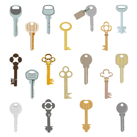 House keys vector icon on white backdrop Illustration