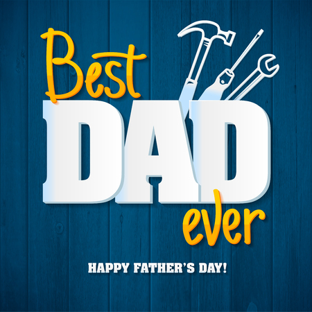 Happy Father's Day.Happy fathers day card retro type font