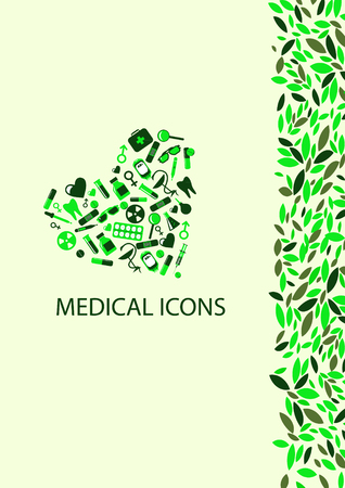 Medical Icons with colour Background