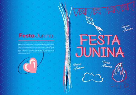 Festa Junina Brazil Topic Festival. Folklore holiday. It is a vector illustration. 일러스트