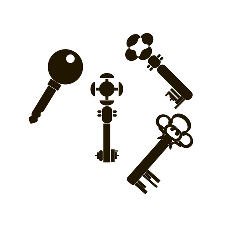 house key vector icon on the white background