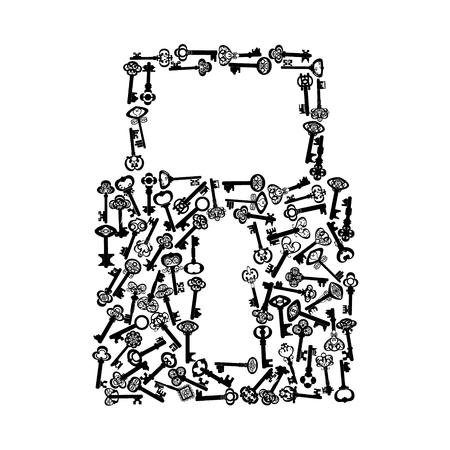 house key icon on the white background Illustration