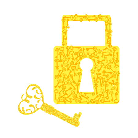 The set of old keys icon
