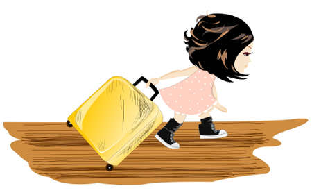 whelps: Travel girl with baggage