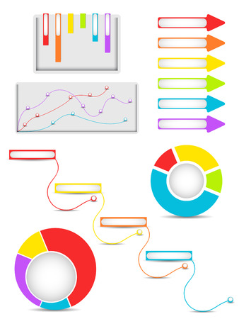 sigh: Set of infographics design elements. Vector illustration Illustration