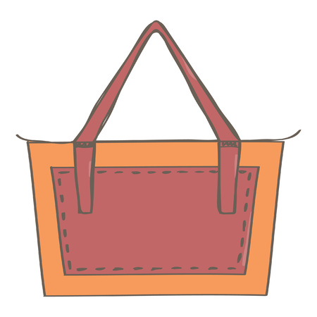 Fashionable orange and red lady business bag.