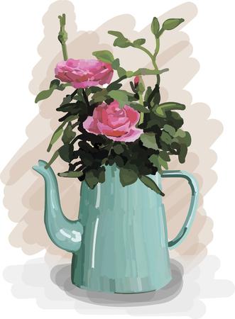 jug: flowers in vintage jug