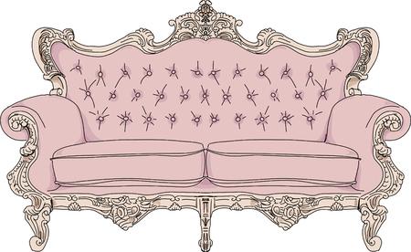 Weinlese-Sofa.
