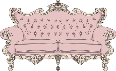 armchair: Vintage sofa. Illustration