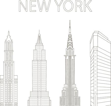 sky scrapers: Modern New York
