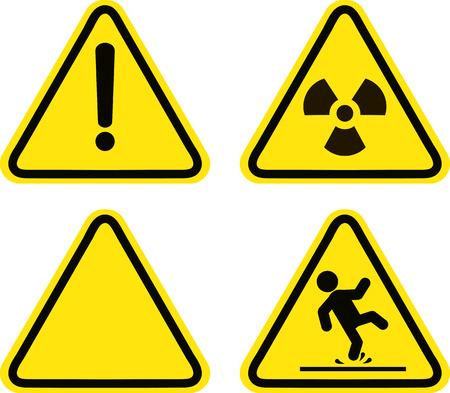 위험, 관심, 기호의 경고 기호