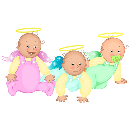 jumpsuit: Three infants in the sliders.