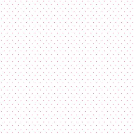 Seamless pattern di piccoli pois rosa su uno sfondo bianco.