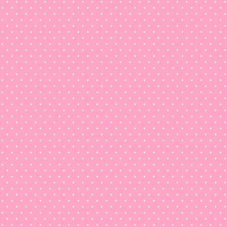 Naadloos patroon van kleine, roze stippen op een witte achtergrond. Stock Illustratie