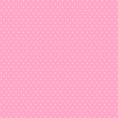Seamless pattern of small, pink polka dots on a white background. Zdjęcie Seryjne - 55019269