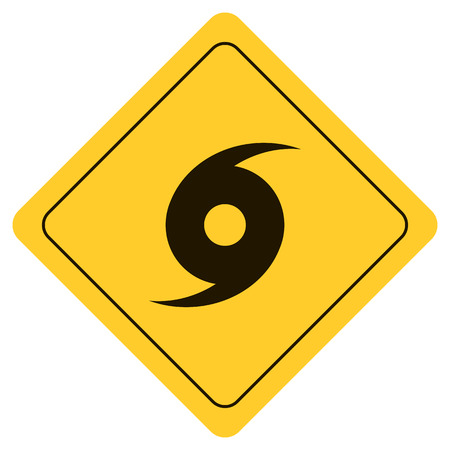 Hurricane Warning Sign  イラスト・ベクター素材