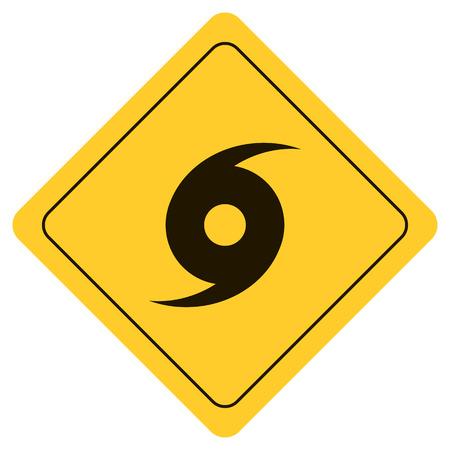 Hurricane Warning Sign Illustration