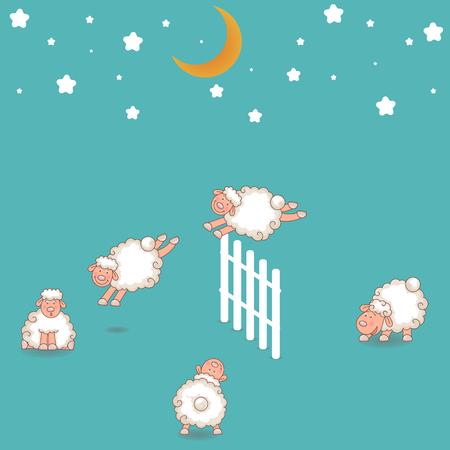 salto de valla: Contando ovejas que saltan sobre la cerca