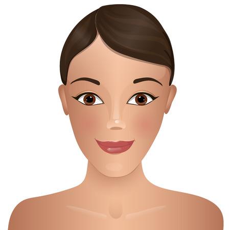 Belleza. Cara de la mujer. Ilustración de vector