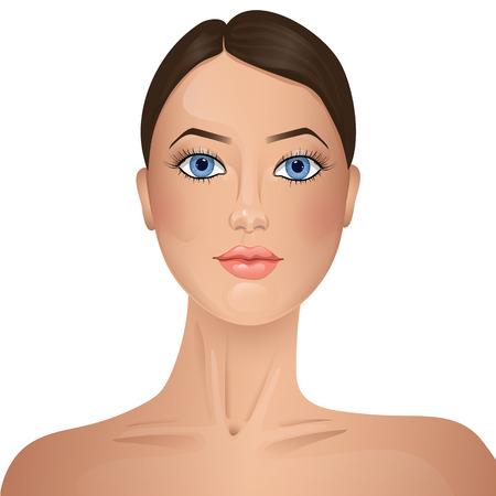 beautiful eyes: Beauty. Womans face. Illustration