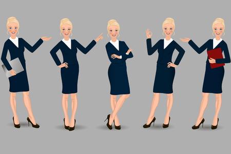 Business Woman  Ilustración de vector