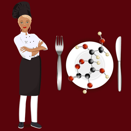 Cook molecular cuisine Illustration