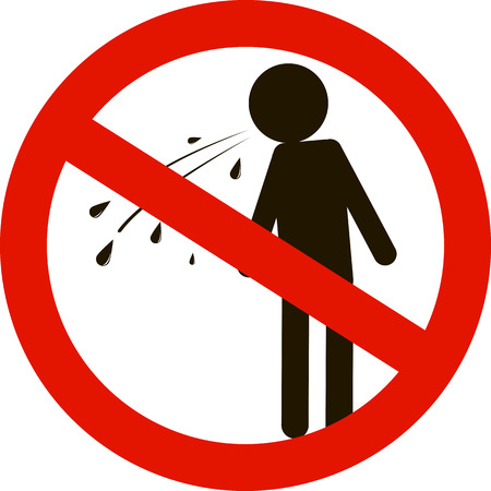 no spitting sign