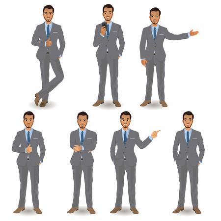 élégant jeune homme en costume d'affaires Vecteurs