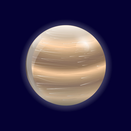 venus: Illustration of planet Venus