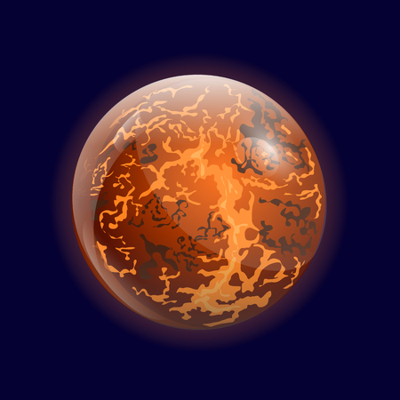 layered sphere: Planet Mercury Illustration